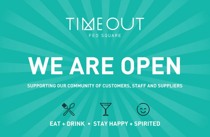 Timeout Fed Square WE-ARE-OPEN-Tile