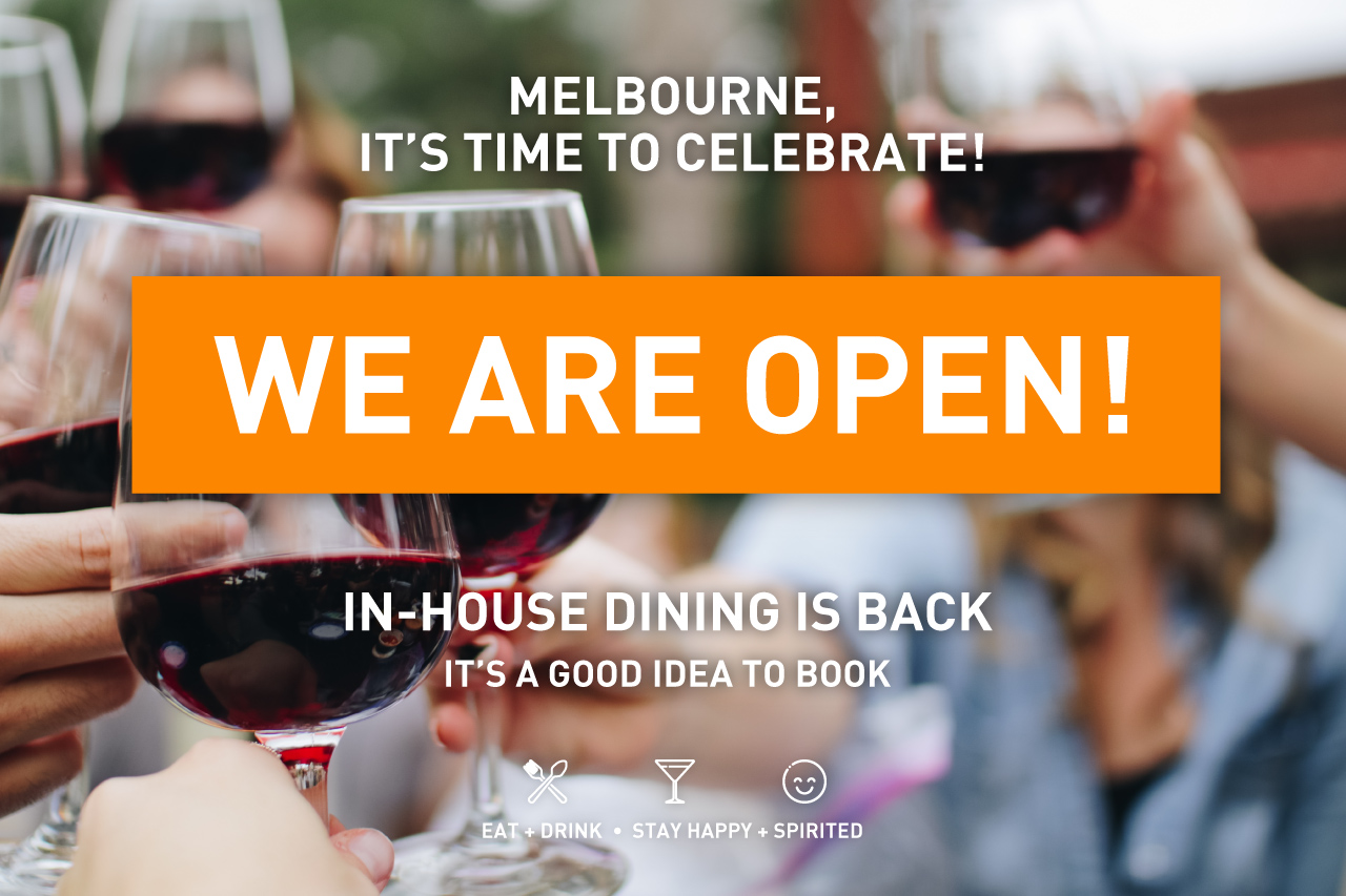 Timeout Fed Square WE ARE OPENING September 25 2020 for Takeout Orders