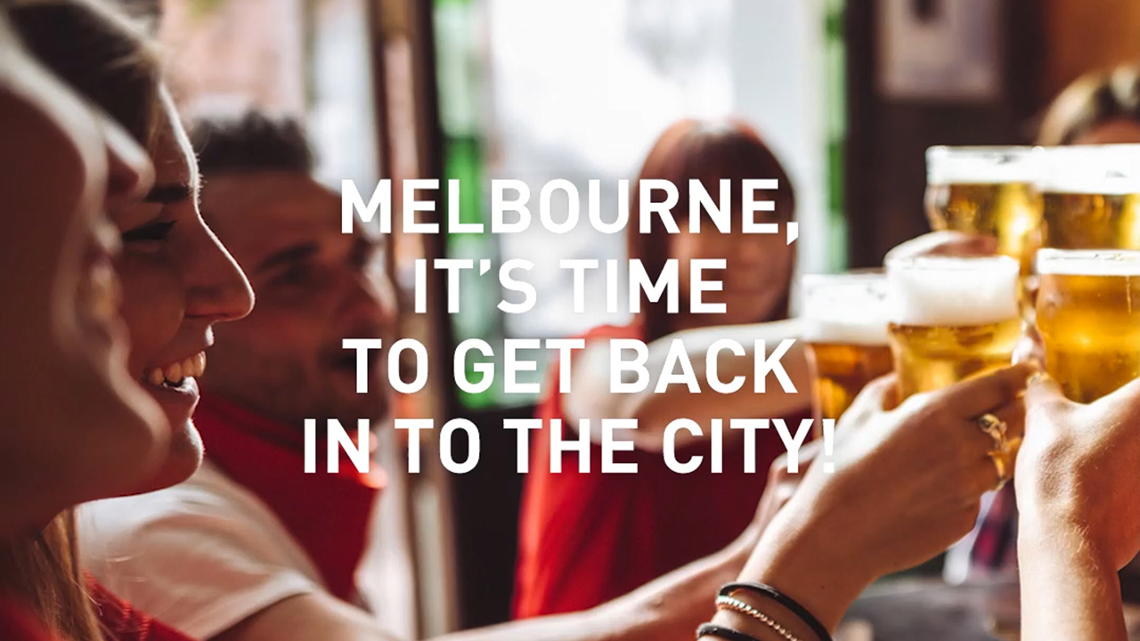 Timeout Fed Square WE ARE OPEN